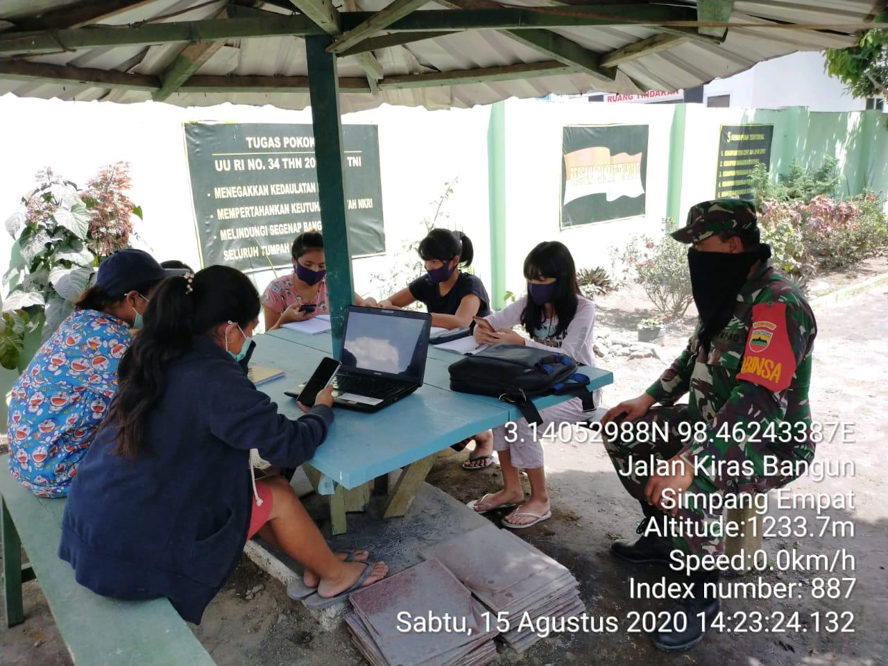 Dandim Minta Kantor Koramil se- Kodim 0205/TK Sediakan Wifi Gratis ke Siswa/i Untuk Belajar Daring
